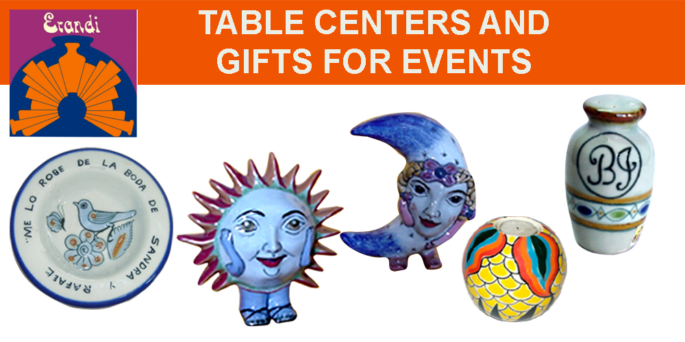 TABLE CENTER AND GIFTS FOR EVENTS